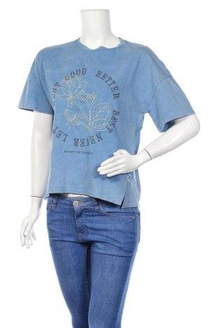 Дамска тениска Clockhouse, Размер S, Цвят Син, 100% памук, Цена 25,34лв.
