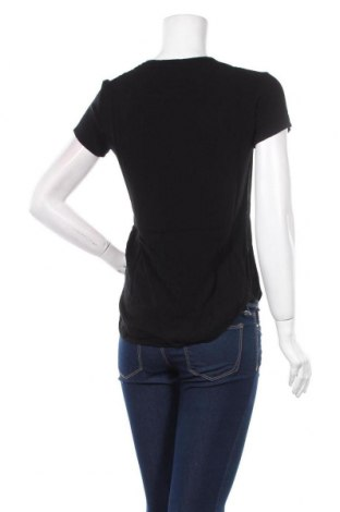 Дамска тениска Desigual, Размер XS, Цвят Черен, Вискоза, Цена 66,75лв.