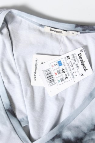 Дамска тениска Desigual, Размер M, Цвят Сив, Памук, Цена 51,75лв.