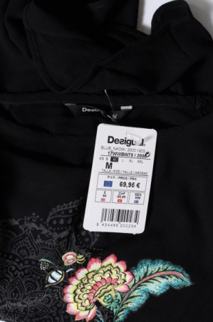Дамска тениска Desigual, Размер M, Цвят Черен, Вискоза, Цена 66,75лв.