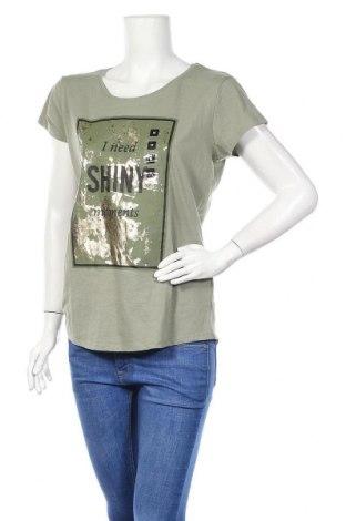 Дамска тениска Jean Pascale, Размер M, Цвят Зелен, 58% памук, 42% полиестер, Цена 25,34лв.