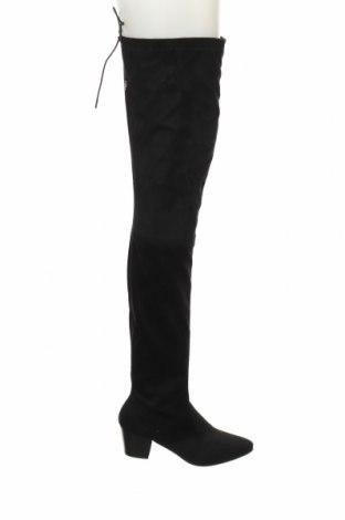 Γυναικείες μπότες Buffalo, Μέγεθος 39, Χρώμα Μαύρο, Κλωστοϋφαντουργικά προϊόντα, Τιμή 21,35€
