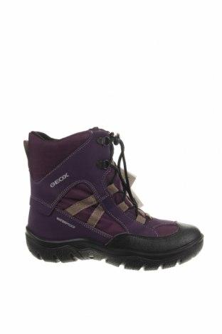 Детски обувки Geox, Размер 35, Цвят Лилав, Текстил, еко кожа, Цена 74,97лв.