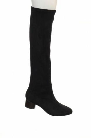 Γυναικείες μπότες Nine West, Μέγεθος 39, Χρώμα Μαύρο, Κλωστοϋφαντουργικά προϊόντα, Τιμή 51,29€