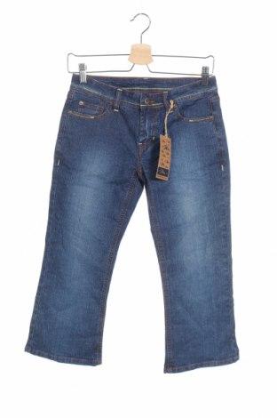 Дамски дънки, Размер XS, Цвят Син, 53% рамия, 35% памук, 10% полиестер, 2% еластан, Цена 7,94лв.