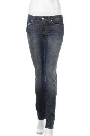 Дамски дънки 7 For All Mankind, Размер S, Цвят Син, 98% памук, 2% еластан, Цена 41,76лв.