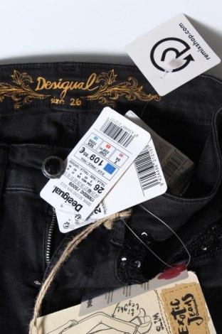 Γυναικείο Τζίν Desigual, Μέγεθος S, Χρώμα Μαύρο, 98% βαμβάκι, 2% ελαστάνη, Τιμή 65,33€