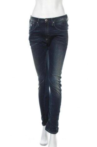 Дамски дънки G-Star Raw, Размер M, Цвят Син, 99% памук, 1% еластан, Цена 43,66лв.