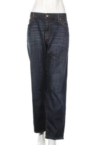 Дамски дънки Lucky Brand, Размер XXL, Цвят Син, 98% памук, 2% еластан, Цена 31,92лв.