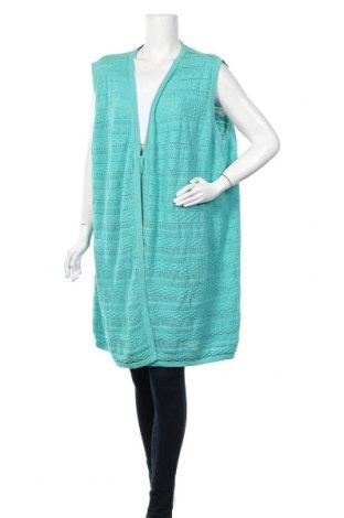 Γυναικείο γιλέκο Ulla Popken, Μέγεθος XL, Χρώμα Πράσινο, Βαμβάκι, Τιμή 16,66€