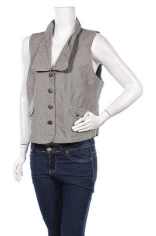 Γυναικείο γιλέκο Zizzi, Μέγεθος XL, Χρώμα  Μπέζ, 70% βαμβάκι, 30% λινό, Τιμή 15,20€