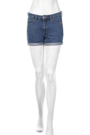 Γυναικείο κοντό παντελόνι H&M, Μέγεθος XS, Χρώμα Μπλέ, 79% βαμβάκι, 16% πολυεστέρας, 5% ελαστάνη, Τιμή 6,24€