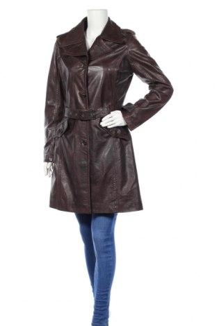 Дамски кожен шлифер Gipsy, Размер L, Цвят Кафяв, Естествена кожа, Цена 77,76лв.