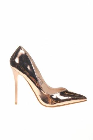 Дамски обувки Lost Ink, Размер 38, Цвят Златист, Еко кожа, Цена 32,40лв.