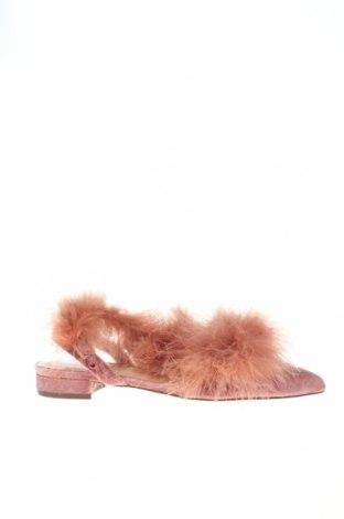 Дамски обувки Parfois, Размер 37, Цвят Розов, Естествени пера, текстил, Цена 50,60лв.