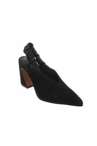 Γυναικεία παπούτσια Reserved, Μέγεθος 36, Χρώμα Μαύρο, Φυσικό σουέτ, γνήσιο δέρμα, Τιμή 11,47€
