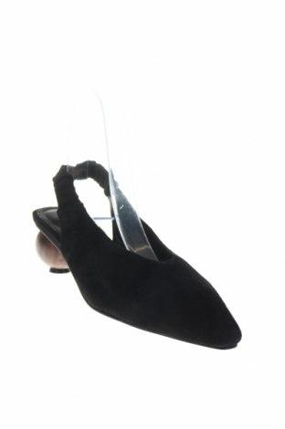 Дамски обувки Reserved, Размер 36, Цвят Черен, Естествен велур, Цена 20,47лв.