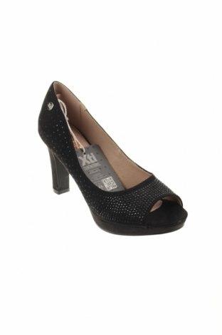 Дамски обувки Xti, Размер 36, Цвят Черен, Текстил, Цена 17,80лв.
