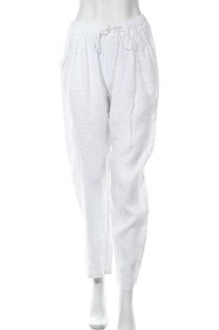Дамски панталон, Размер M, Цвят Бял, Лен, Цена 27,60лв.