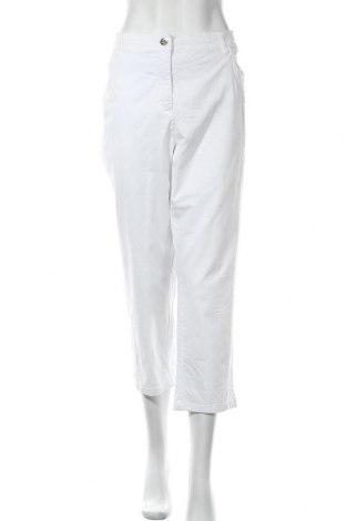 Дамски панталон Canda, Размер XXL, Цвят Бял, 98% памук, 2% еластан, Цена 28,00лв.