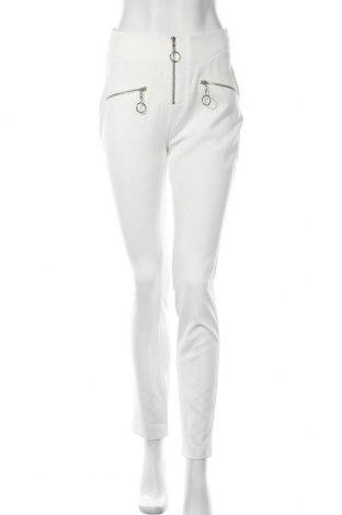Γυναικείο παντελόνι Denny Rose, Μέγεθος M, Χρώμα Λευκό, 95% πολυεστέρας, 5% ελαστάνη, Τιμή 40,70€
