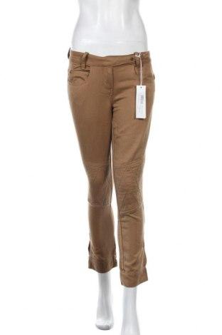 Дамски панталон Stefanel, Размер XS, Цвят Кафяв, 62% памук, 38% лен, Цена 18,86лв.