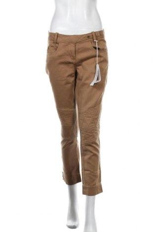 Дамски панталон Stefanel, Размер S, Цвят Кафяв, 62% памук, 38% лен, Цена 20,28лв.