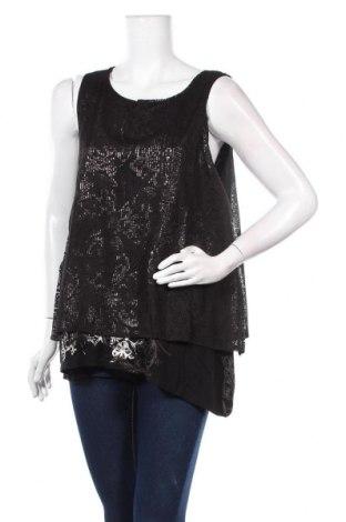 Γυναικείο αμάνικο μπλουζάκι Desigual, Μέγεθος XL, Χρώμα Μαύρο, Βισκόζη, πολυεστέρας, Τιμή 19,67€