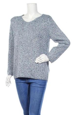 Дамски пуловер, Размер L, Цвят Син, 61% акрил, 39% памук, Цена 9,66лв.