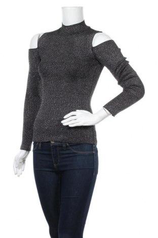Дамски пуловер, Размер XS, Цвят Сив, 50% памук, 50% акрил, Цена 9,92лв.