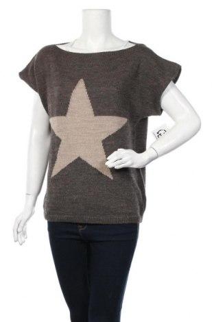 Γυναικείο πουλόβερ, Μέγεθος M, Χρώμα Γκρί, 75%ακρυλικό, 10% μαλλί, 10% βισκόζη, 5% μαλλί από αλπακά, Τιμή 5,46€