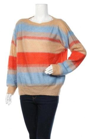 Дамски пуловер, Размер L, Цвят Многоцветен, 36% полиамид, 30% мохер, 27% акрил, 7% вълна, Цена 16,17лв.