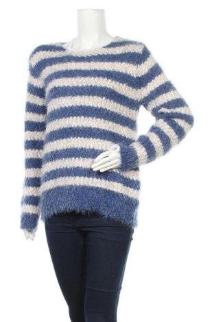 Дамски пуловер, Размер L, Цвят Син, 58% полиестер, 31% полиамид, 1% метални нишки, Цена 6,04лв.