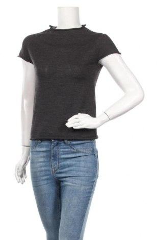 Дамски пуловер, Размер XS, Цвят Сив, 50% памук, 50% полиестер, Цена 13,13лв.