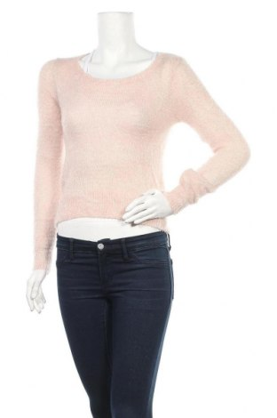 Дамски пуловер, Размер XS, Цвят Розов, 97% полиестер, 3% метални нишки, Цена 8,19лв.