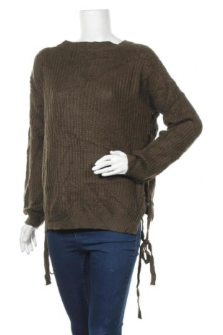 Дамски пуловер, Размер M, Цвят Зелен, Акрил, Цена 22,94лв.
