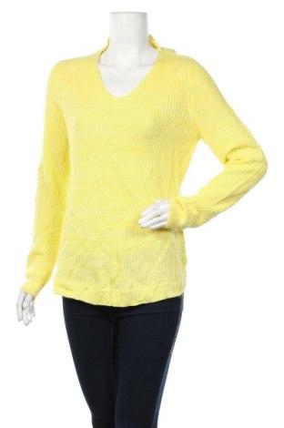 Дамски пуловер, Размер L, Цвят Жълт, Акрил, Цена 10,66лв.
