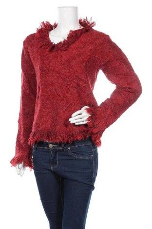 Дамски пуловер, Размер L, Цвят Червен, Цена 5,51лв.