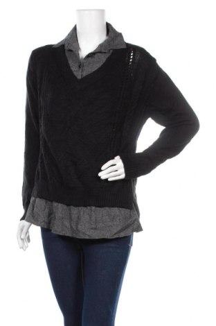 Дамски пуловер, Размер M, Цвят Черен, Цена 6,62лв.