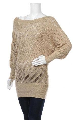 Дамски пуловер, Размер M, Цвят Бежов, 80% акрил, 10% полиестер, 10% еластан, Цена 22,05лв.