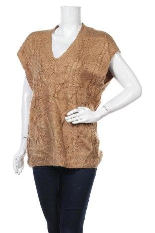 Дамски пуловер, Размер XL, Цвят Кафяв, Цена 23,10лв.