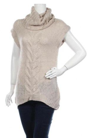 Дамски пуловер, Размер M, Цвят Бежов, 46% акрил, 44% полиамид, 10% мохер, Цена 6,30лв.