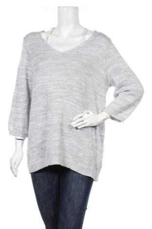 Дамски пуловер, Размер XL, Цвят Сив, 50% полиакрил, 50% памук, Цена 9,56лв.