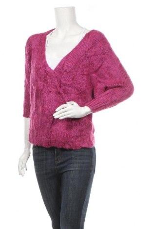 Дамски пуловер Mango, Размер S, Цвят Розов, 60% акрил, 19% полиестер, 15% вълна, 6% мохер, Цена 11,76лв.