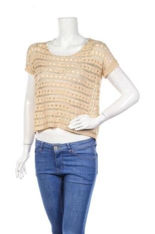 Дамски пуловер, Размер S, Цвят Кафяв, 50% акрил, 25% вискоза, 25% полиестер, Цена 8,82лв.
