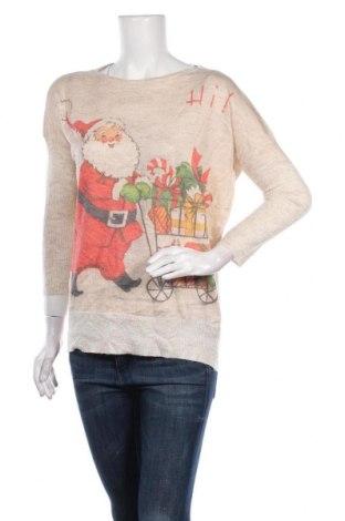Дамски пуловер, Размер M, Цвят Бежов, Цена 25,20лв.