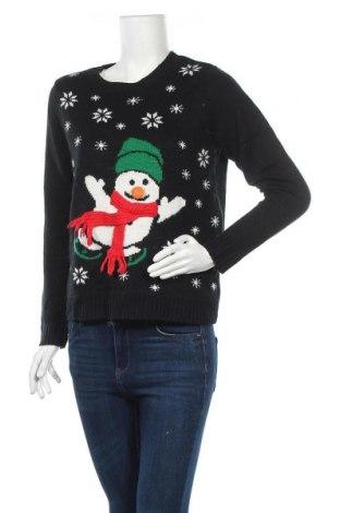 Дамски пуловер, Размер M, Цвят Черен, Акрил, Цена 10,40лв.