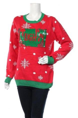 Дамски пуловер, Размер L, Цвят Червен, 60% памук, 40% акрил, Цена 8,19лв.