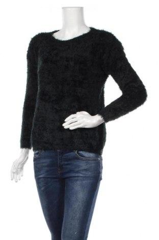 Дамски пуловер, Размер M, Цвят Черен, 65% памук, 35% полиестер, Цена 8,14лв.