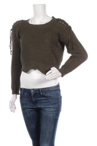Дамски пуловер, Размер S, Цвят Зелен, 70% акрил, 30% вълна, Цена 11,34лв.